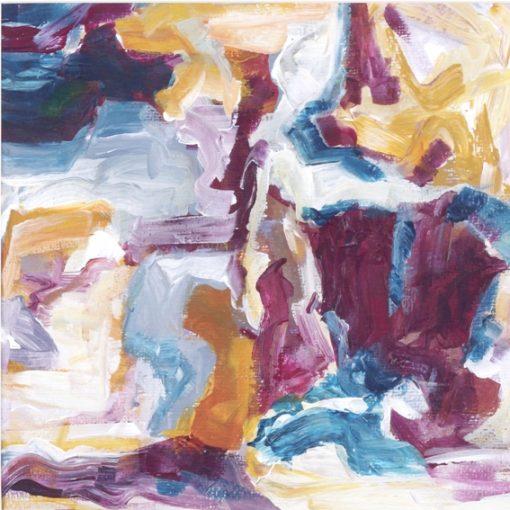 VIOLETS, acrylic, paper, 28x27cm, 2011