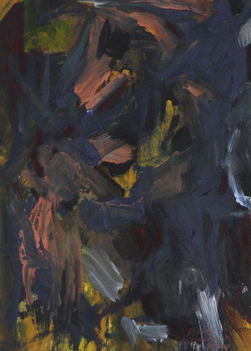 WINTER ETUDE-2 Acrylic, Paper, 29x39 cm, 2015 m.