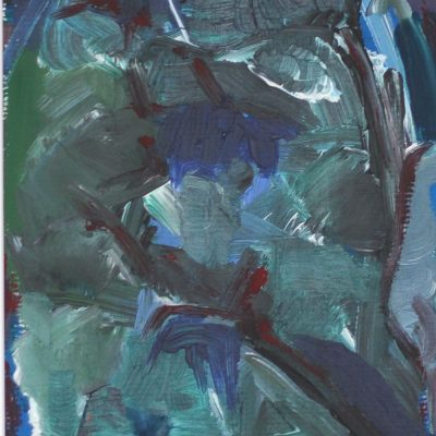 WINTER ETUDE-3, Acrylic, Paper, 29x39 cm, 2015 m. (2)