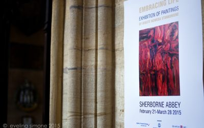 """EMBRACING LIFE"" EXHIBITION OF PAINTINGS OF BIRUTĖ NOMEDA STANKŪNIENĖ AT SHERBORNE ABBEY"