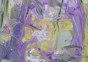 SUMMER FLOWER, canvas, acrylic, 30×50 cm 2014 – Kopija