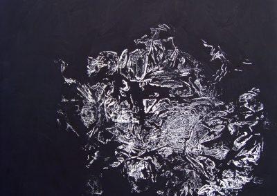 prisilietimas prie juodos - 4 90x90x2cm aliejus drobe,2017,790