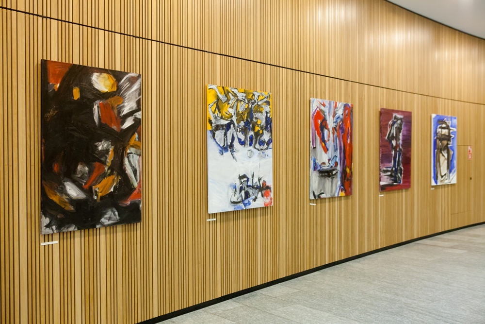 "PAINTING EXHIBITION ""LETTERS"" 2020.03.01-2020.03.26 AT BUSINESS CENTRE K29 IN VILNIUS"